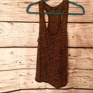 Forever 21 Leopard Print, Racerback Tank. Small